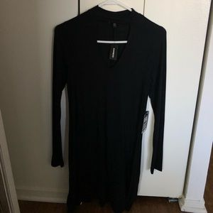 Express Cut Out Neck Long Sleeve Dress